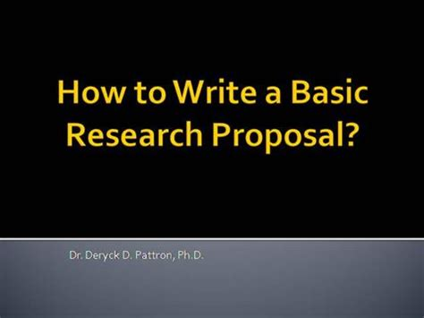 A Guide to Writing your PhD Proposal - University of Exeter